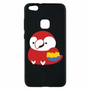 Etui na Huawei P10 Lite Red parrot
