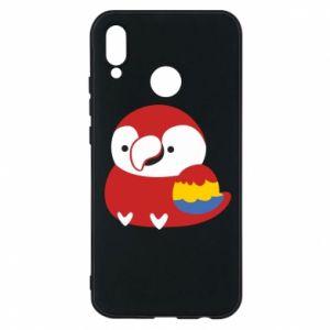 Etui na Huawei P20 Lite Red parrot