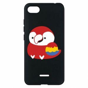 Etui na Xiaomi Redmi 6A Red parrot