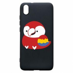 Etui na Xiaomi Redmi 7A Red parrot