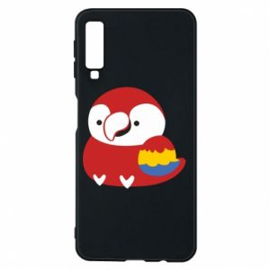 Etui na Samsung A7 2018 Red parrot