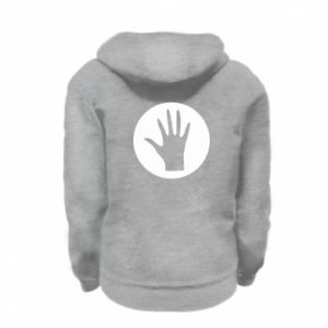 Kid's zipped hoodie % print% Arm