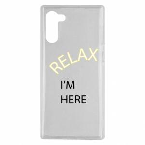 Etui na Samsung Note 10 Relax. I'm here