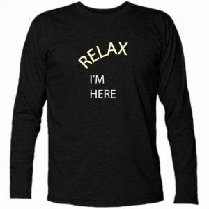 Koszulka z długim rękawem Relax. I'm here