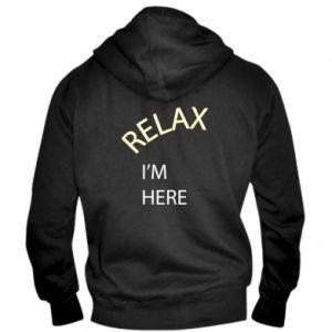Męska bluza z kapturem na zamek Relax. I'm here