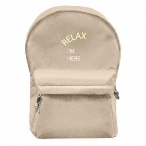 Plecak z przednią kieszenią Relax. I'm here