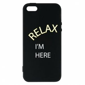 Etui na iPhone 5/5S/SE Relax. I'm here