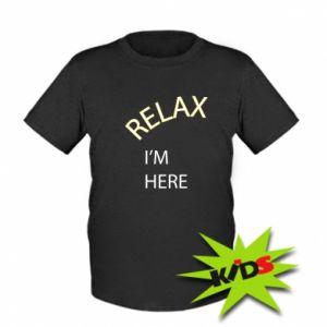 Dziecięcy T-shirt Relax. I'm here