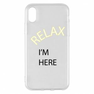 Etui na iPhone X/Xs Relax. I'm here