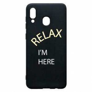 Etui na Samsung A20 Relax. I'm here