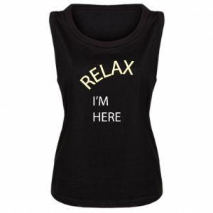 Damska koszulka bez rękawów Relax. I'm here