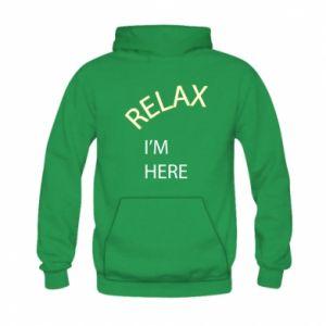 Bluza z kapturem dziecięca Relax. I'm here