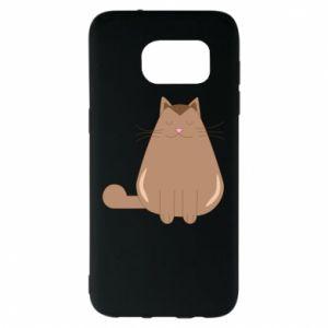 Etui na Samsung S7 EDGE Relaxing cat