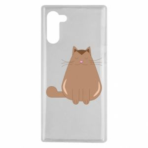 Etui na Samsung Note 10 Relaxing cat