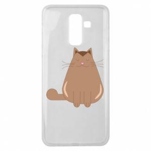 Etui na Samsung J8 2018 Relaxing cat