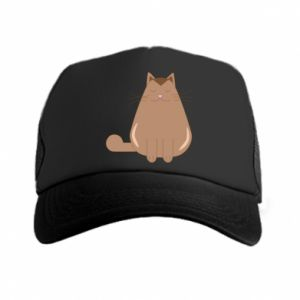 Trucker hat Relaxing cat - PrintSalon
