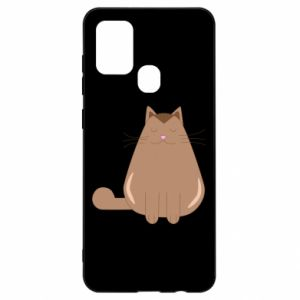 Etui na Samsung A21s Relaxing cat
