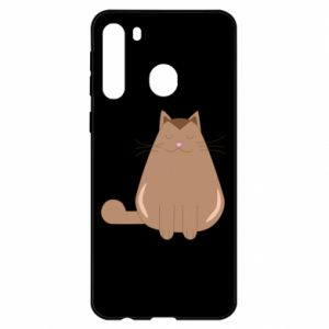 Etui na Samsung A21 Relaxing cat
