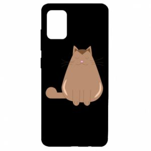 Etui na Samsung A51 Relaxing cat