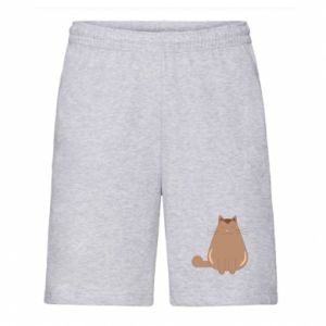Men's shorts Relaxing cat - PrintSalon