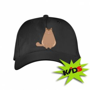 Kids' cap Relaxing cat - PrintSalon