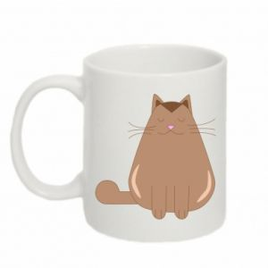 Mug 330ml Relaxing cat - PrintSalon