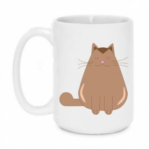 Mug 450ml Relaxing cat - PrintSalon