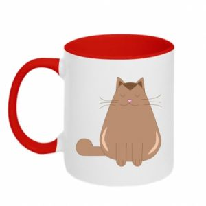 Two-toned mug Relaxing cat - PrintSalon