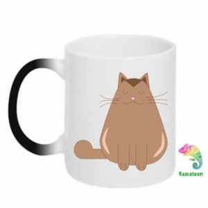 Chameleon mugs Relaxing cat - PrintSalon