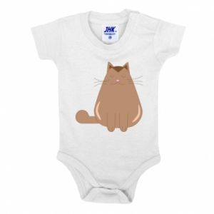 Baby bodysuit Relaxing cat - PrintSalon