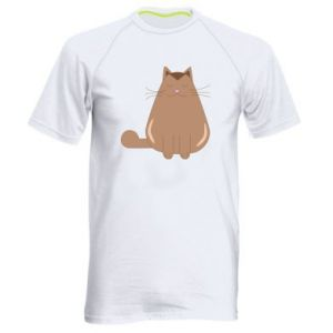 Men's sports t-shirt Relaxing cat - PrintSalon