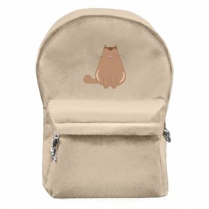 Backpack with front pocket Relaxing cat - PrintSalon