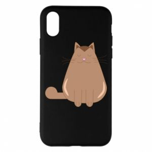 Etui na iPhone X/Xs Relaxing cat