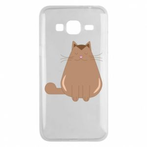 Etui na Samsung J3 2016 Relaxing cat