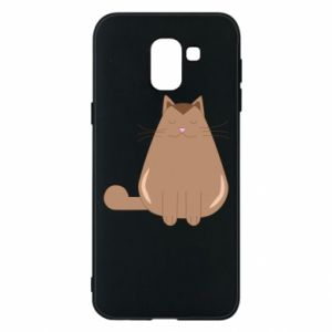 Etui na Samsung J6 Relaxing cat