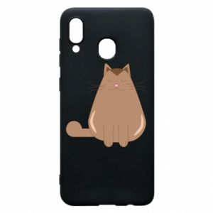 Etui na Samsung A20 Relaxing cat