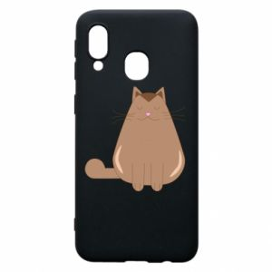 Etui na Samsung A40 Relaxing cat