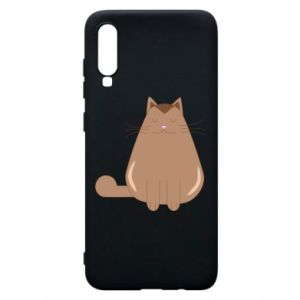 Etui na Samsung A70 Relaxing cat