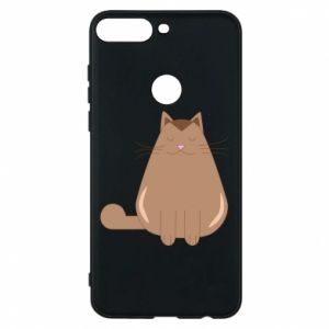 Phone case for Huawei Y7 Prime 2018 Relaxing cat - PrintSalon