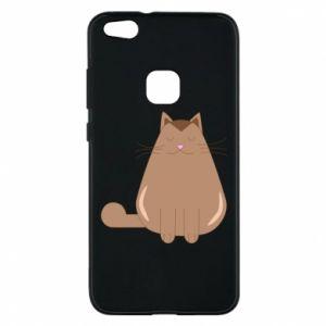 Phone case for Huawei P10 Lite Relaxing cat - PrintSalon