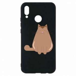 Phone case for Huawei P20 Lite Relaxing cat - PrintSalon