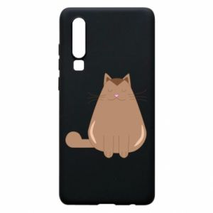Etui na Huawei P30 Relaxing cat
