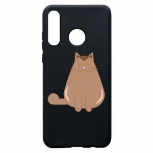 Phone case for Huawei P30 Lite Relaxing cat - PrintSalon