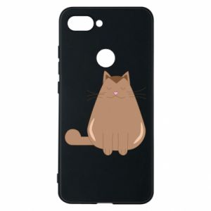 Phone case for Xiaomi Mi8 Lite Relaxing cat - PrintSalon