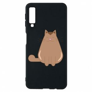 Etui na Samsung A7 2018 Relaxing cat