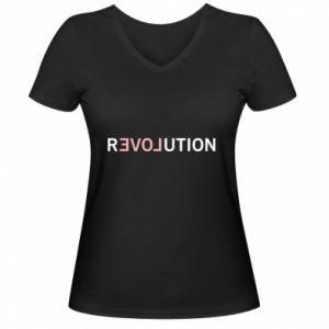 Damska koszulka V-neck Revolution
