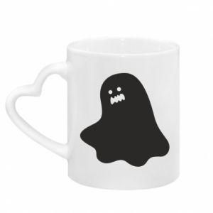 Kubek z uchwytem w kształcie serca Ridiculous ghost