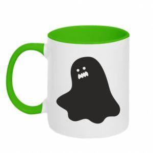 Two-toned mug Ridiculous ghost - PrintSalon
