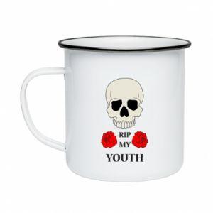 Enameled mug Rip my youth