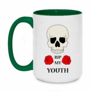 Two-toned mug 450ml Rip my youth